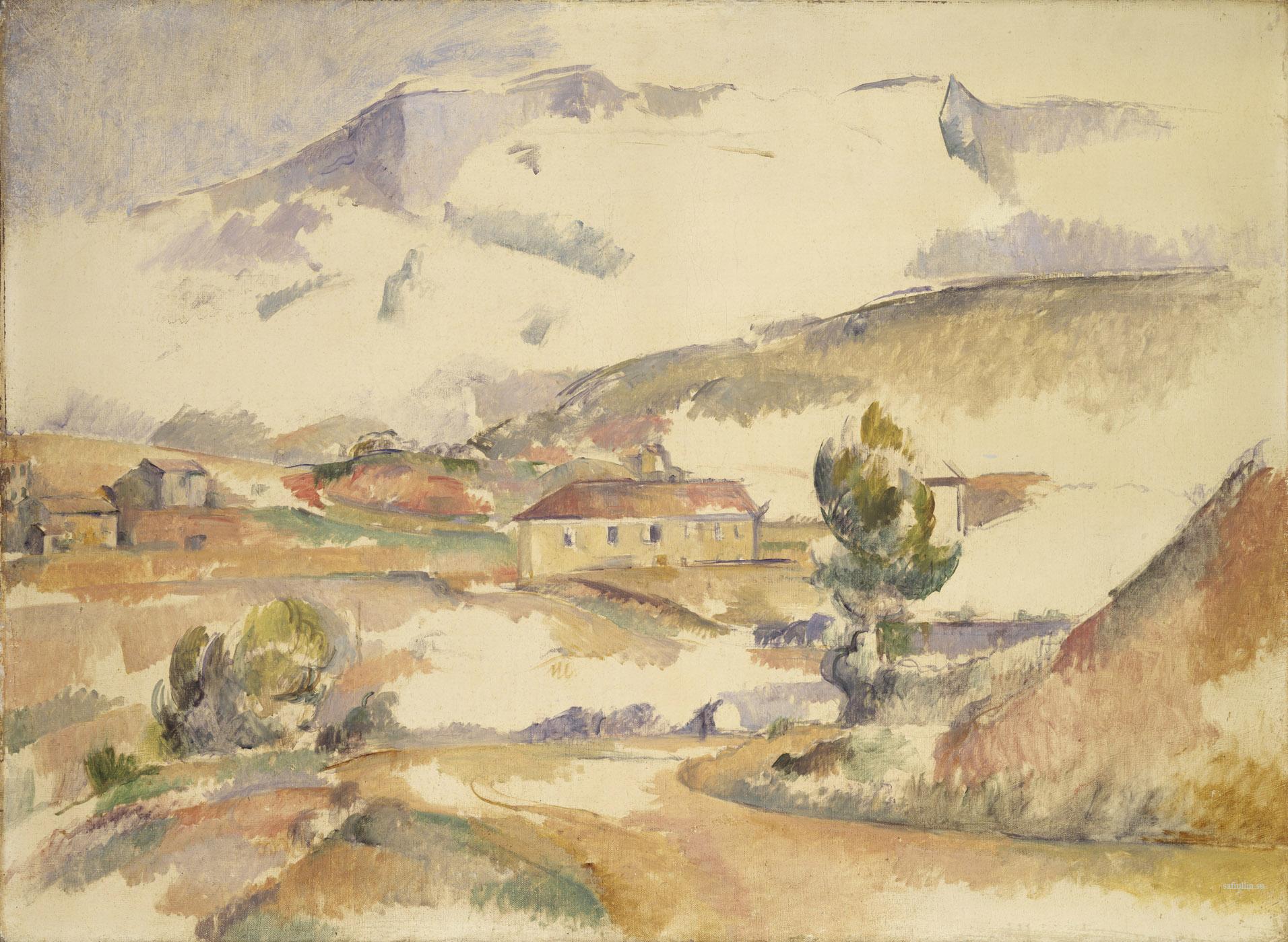 Сезанн картина Sainte-Victoire1886 пейзажи природы Сафиуллин