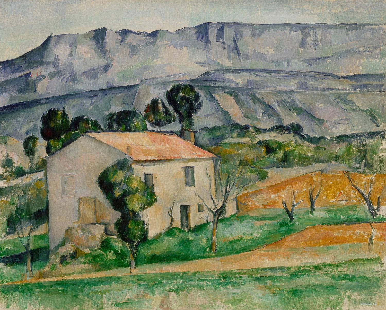 Сезанн картина Sainte Victoire Gardanne 1885 пейзажи природы Сафиуллин
