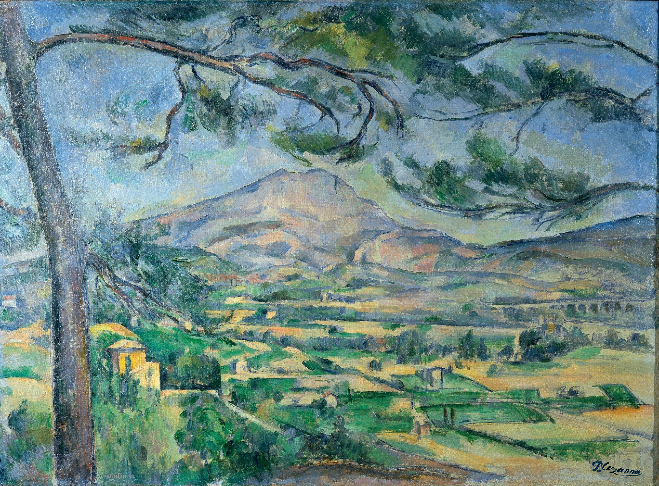 Сезанн картина Sainte Victoire grand pin пейзажи природы Сафиуллин
