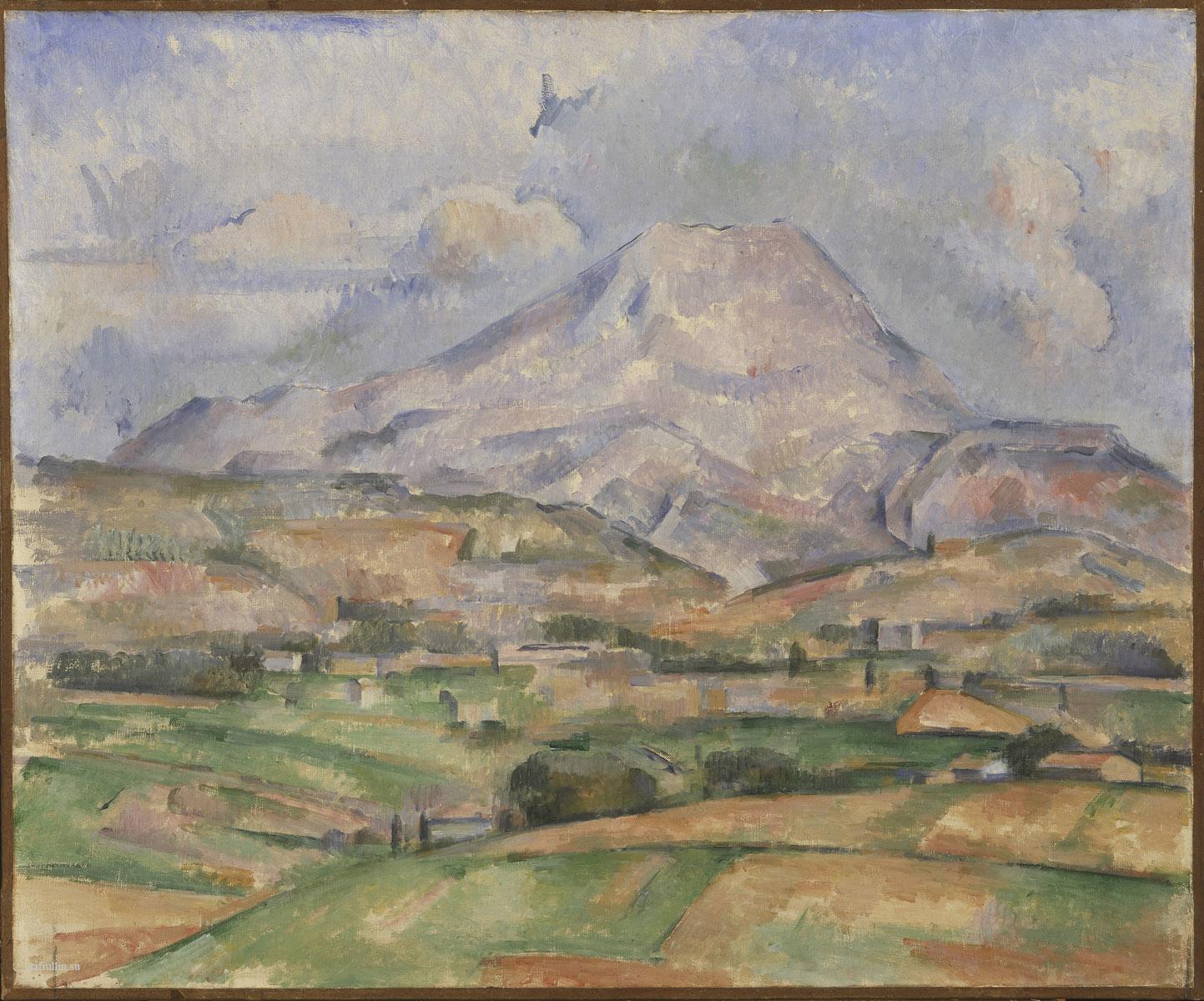 Сезанн картина Montagne Sainte Victoire 1888 пейзажи природы Сафиуллин