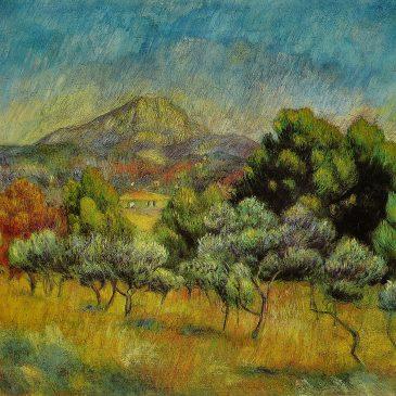 Ренуар картина Гора Сент-Виктуар пейзажи природы Сафиуллин 1889