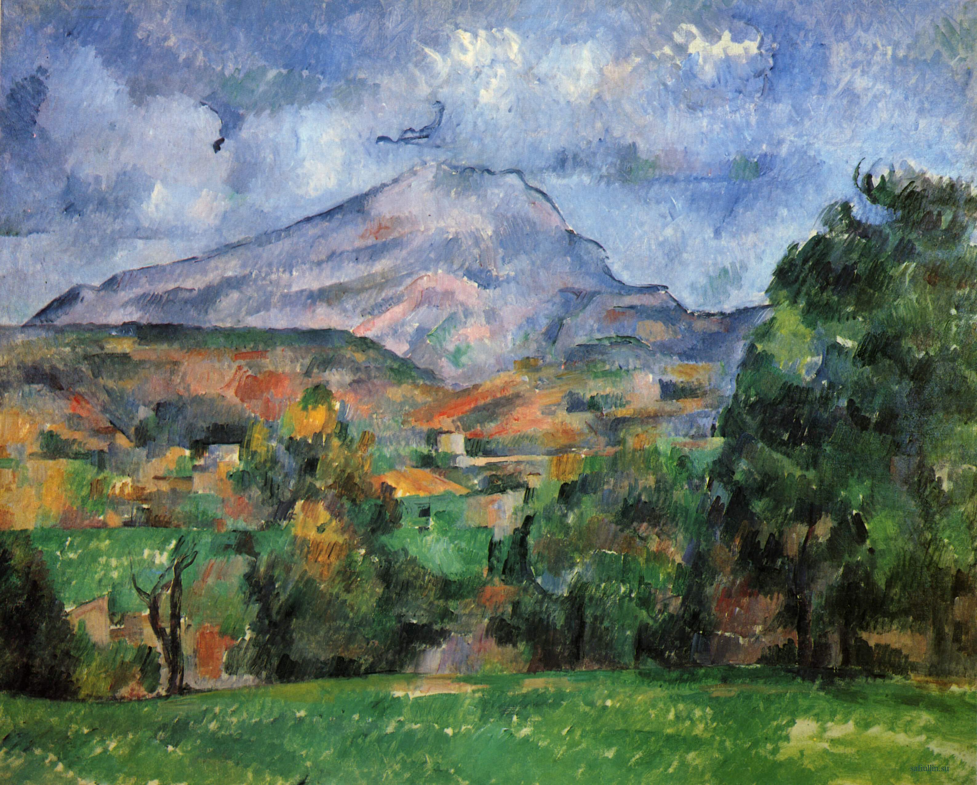 Сезанн картина Гора Сент Виктуар 1890 пейзажи природы Сафиуллин