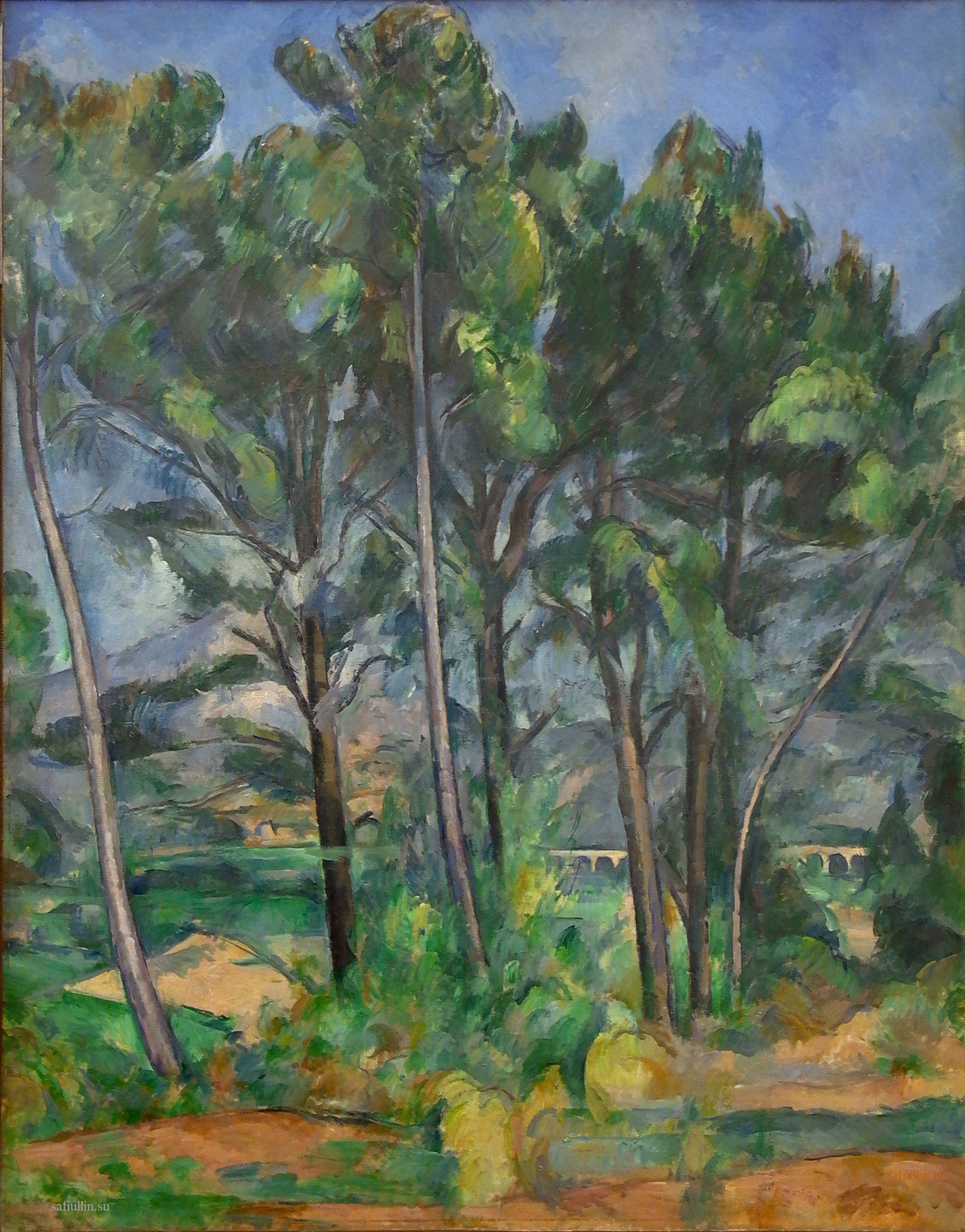 Сезанн картина Sainte Victoire пейзажи природы Сафиуллин