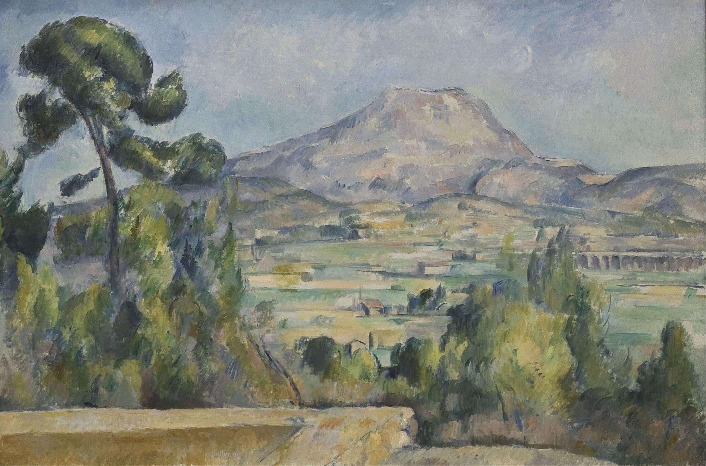 Сезанн картина Montagne Saint Victoire 1890 пейзажи природы Сафиуллин