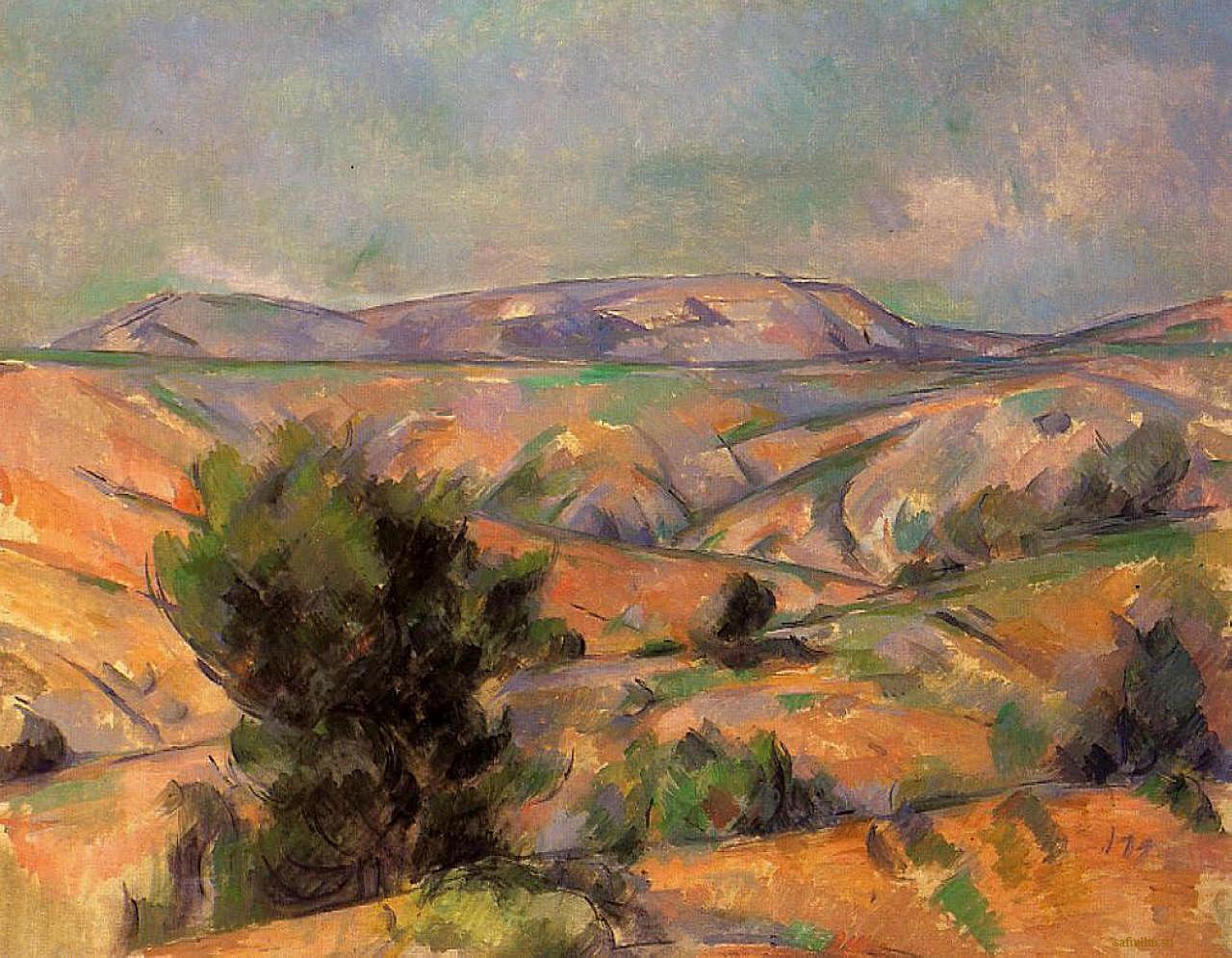 Сезанн картина Гора Сент Виктуар пейзажи природы Сафиуллин