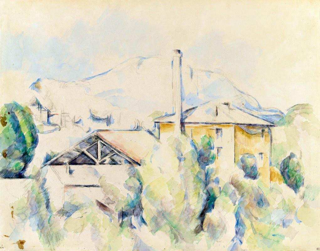 Сезанн рисунок Печь для обжига гипса Сент-Виктуар пейзажи природы Сафиуллин