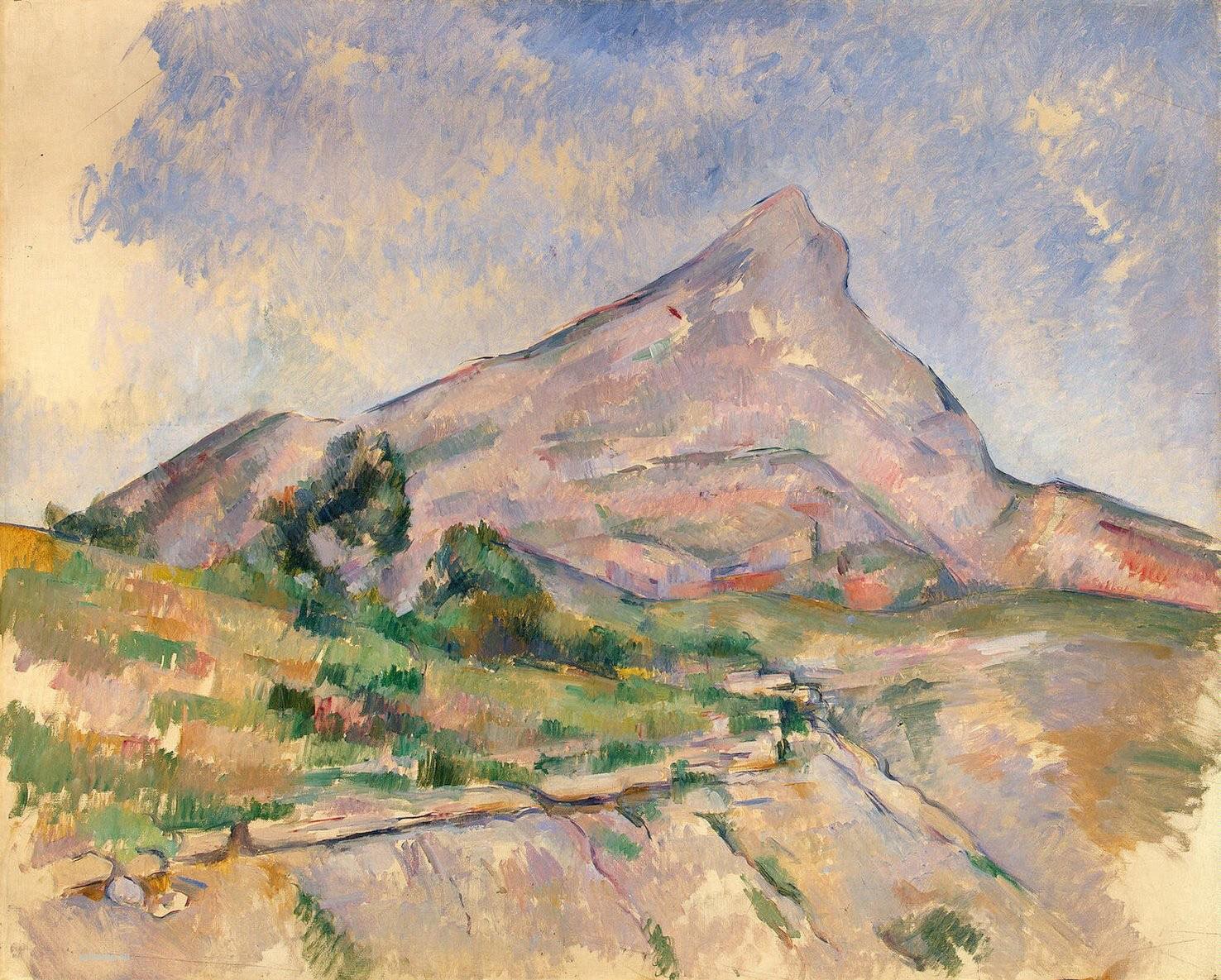 Сезанн картина Sainte Victoire Эрмитаж пейзажи природы Сафиуллин