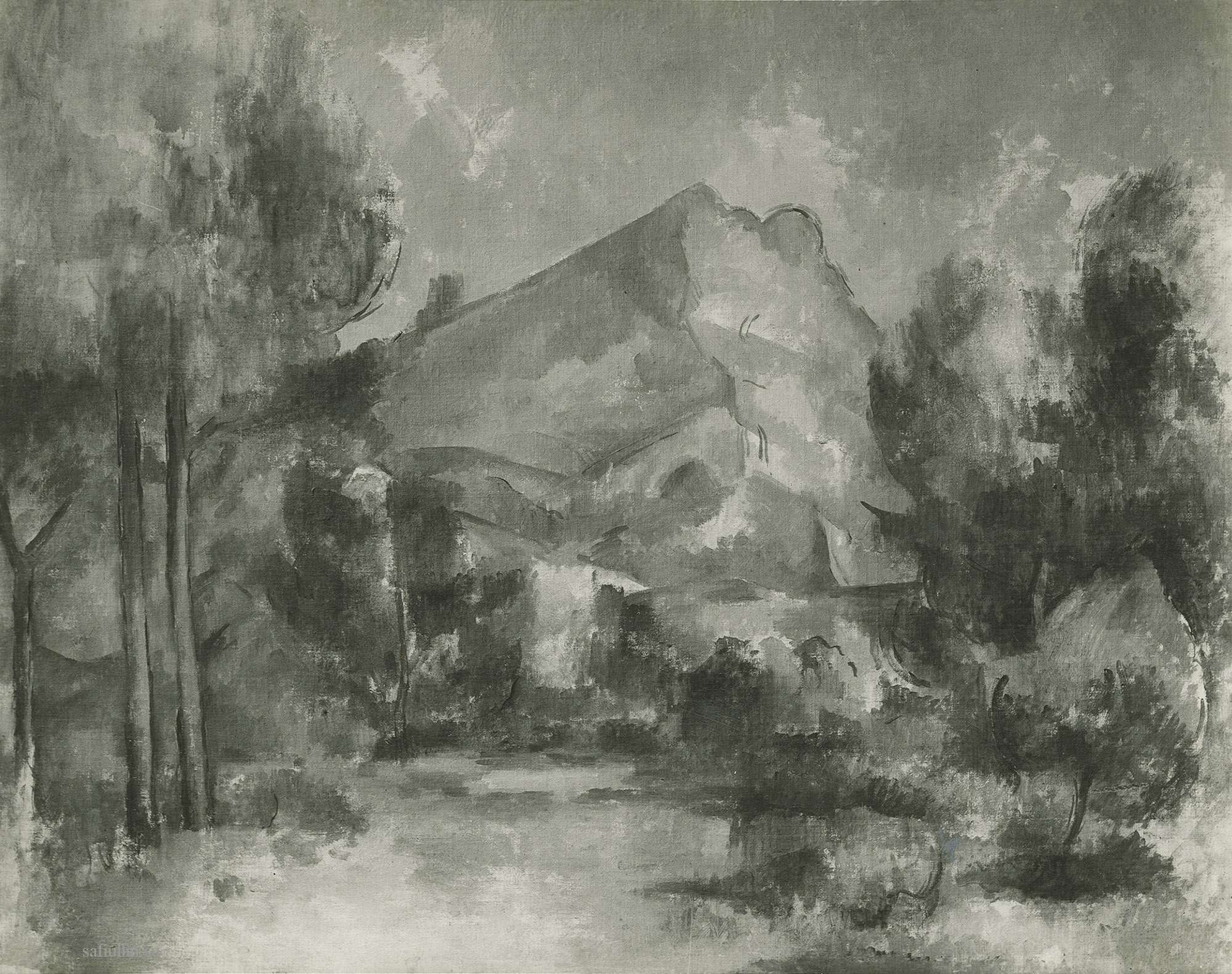 Сезанн картина Montagne Sainte Victoire 1897 пейзажи природы Сафиуллин