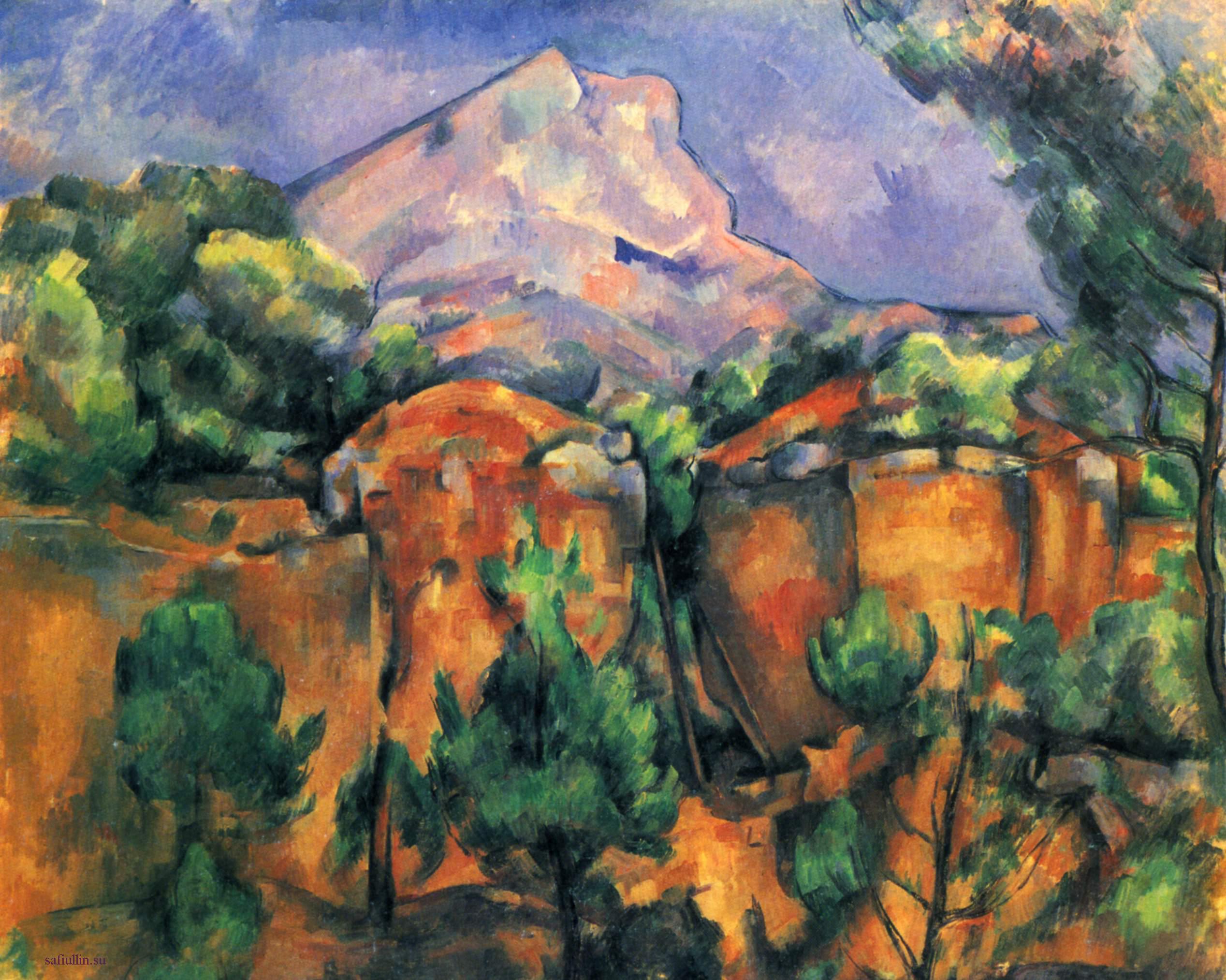 Сезанн картина гора Сент-Виктуар 1898 пейзажи природы Сафиуллин