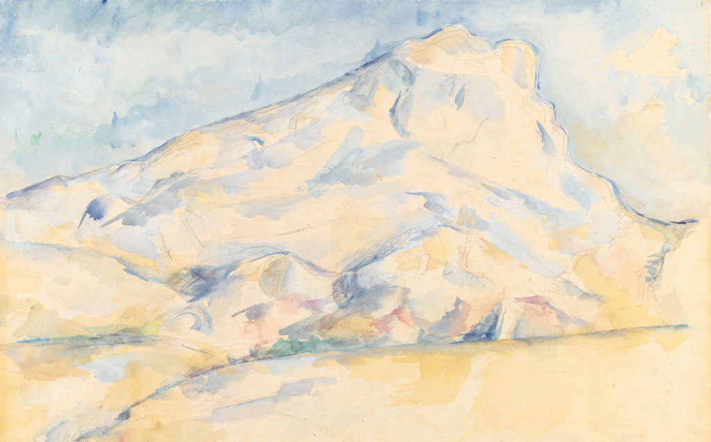Сезанн рисунок Montagne Sainte-Victoire пейзажи природы Сафиуллин Акварель