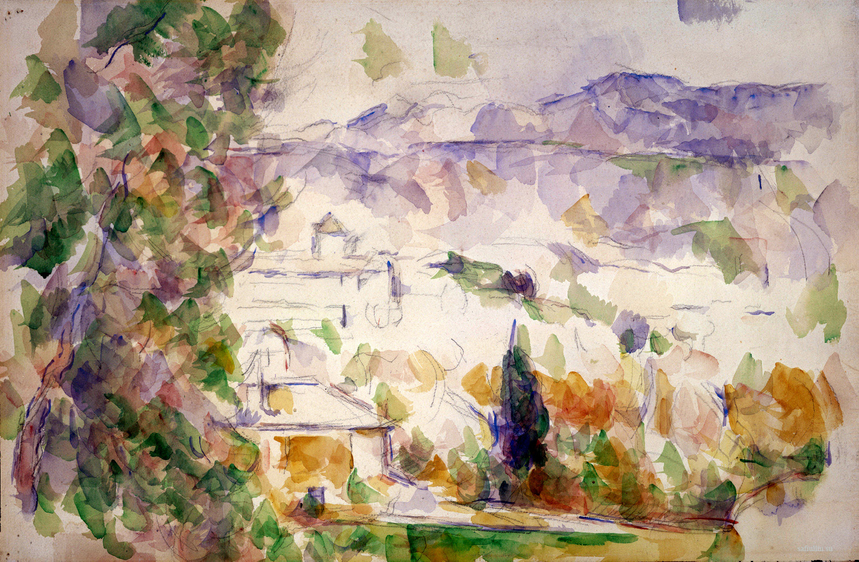 Сезанн рисунок Сент Виктуар Lou-Deven et Barbaroux пейзаж Сафиуллин Акварель