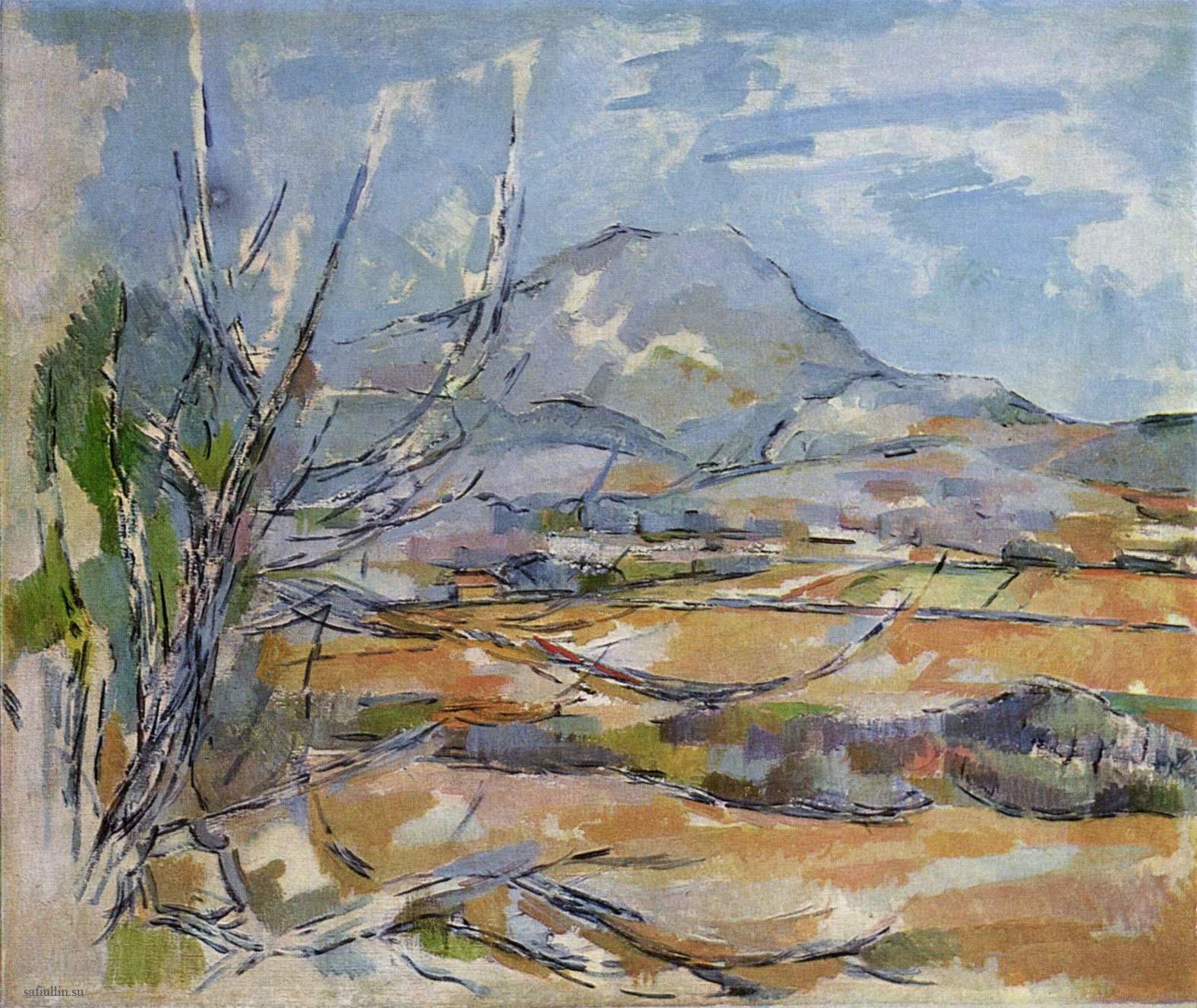 Сезанн картина гора Сент-Виктуар 1894 пейзажи природы Сафиуллин