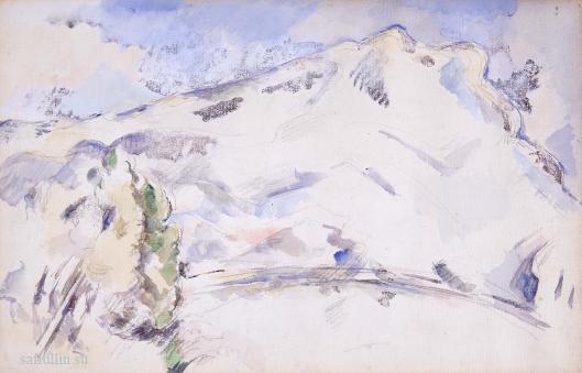 Сезанн рисунок La Montagne Sainte-Victoire пейзажи природы Сафиуллин