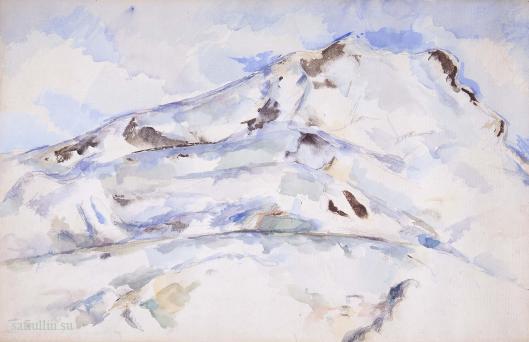 Сезанн рисунок Mont Saint-Victoire пейзажи природы Сафиуллин акварель