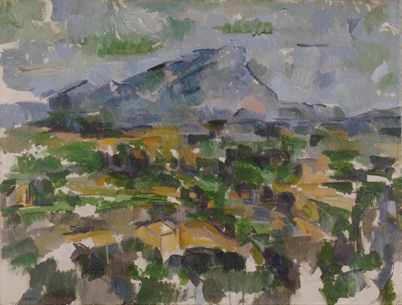 Сезанн картина Sainte Victoire Lauves 1906 пейзажи природы Сафиуллин