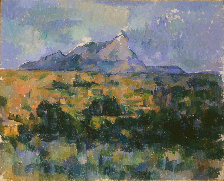 Сезанн картина Sainte Victoire 1906 пейзажи природы Сафиуллин