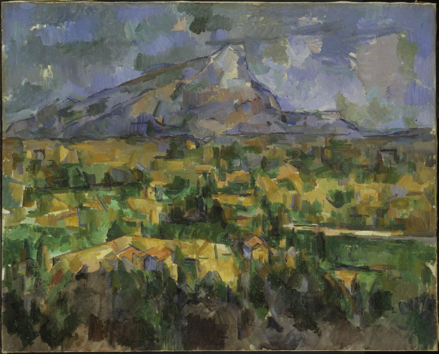 Сезанн картина Mont Sainte Victoire 1904 пейзажи природы Сафиуллин