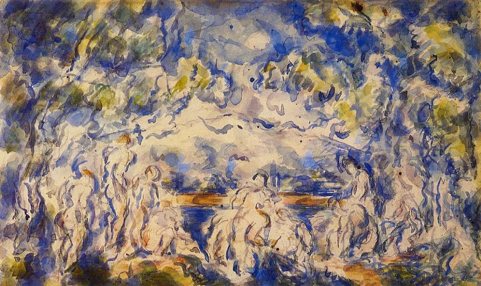 Сезанн картина Купальщики Сент Виктуар 1902 пейзажи природы Сафиуллин
