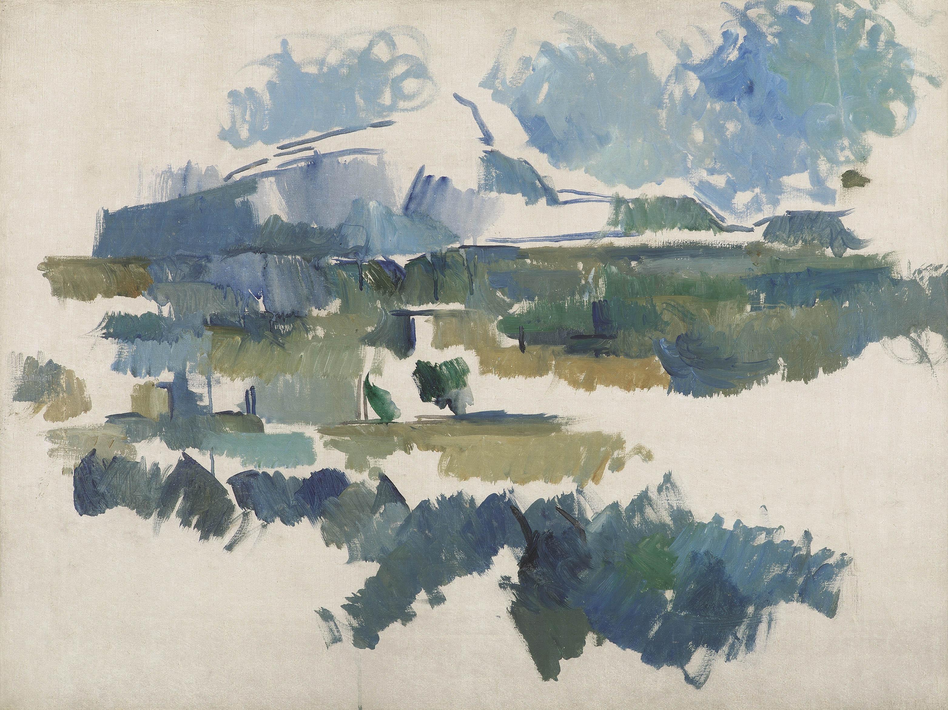 Сезанн картина La Montagne Sainte-Victoire 1902 пейзажи природы Сафиуллин