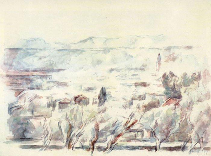 Сезанн рисунок Сент-Виктуар пейзажи природы Сафиуллин акварель 1906