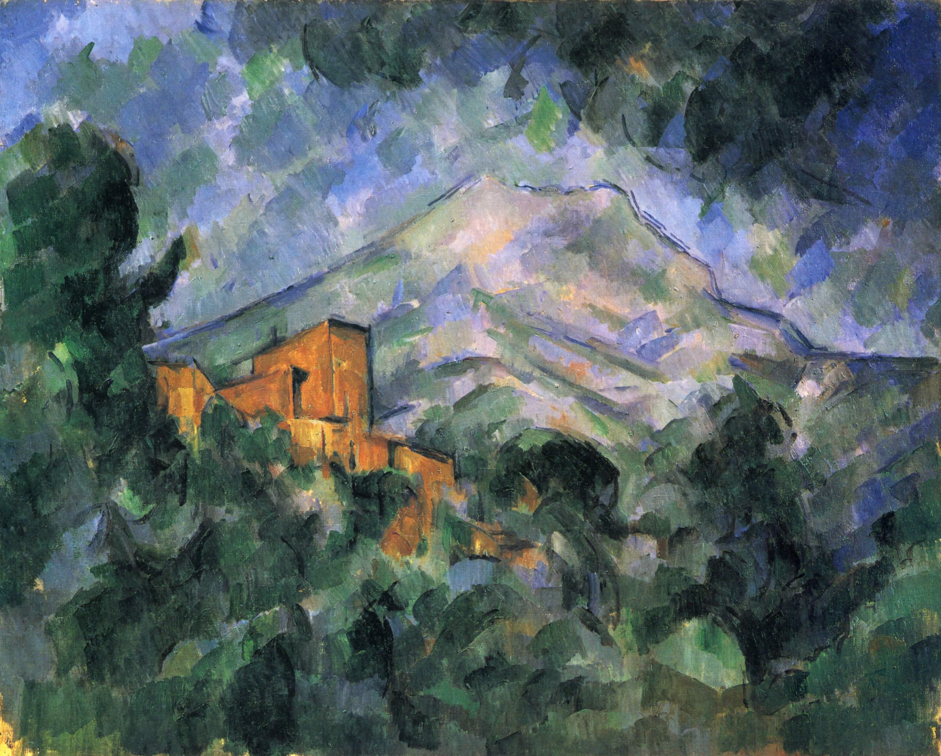 Сезанн картина Montagne Sainte-Victoire Сhâteau Noir пейзажи природы Сафиуллин