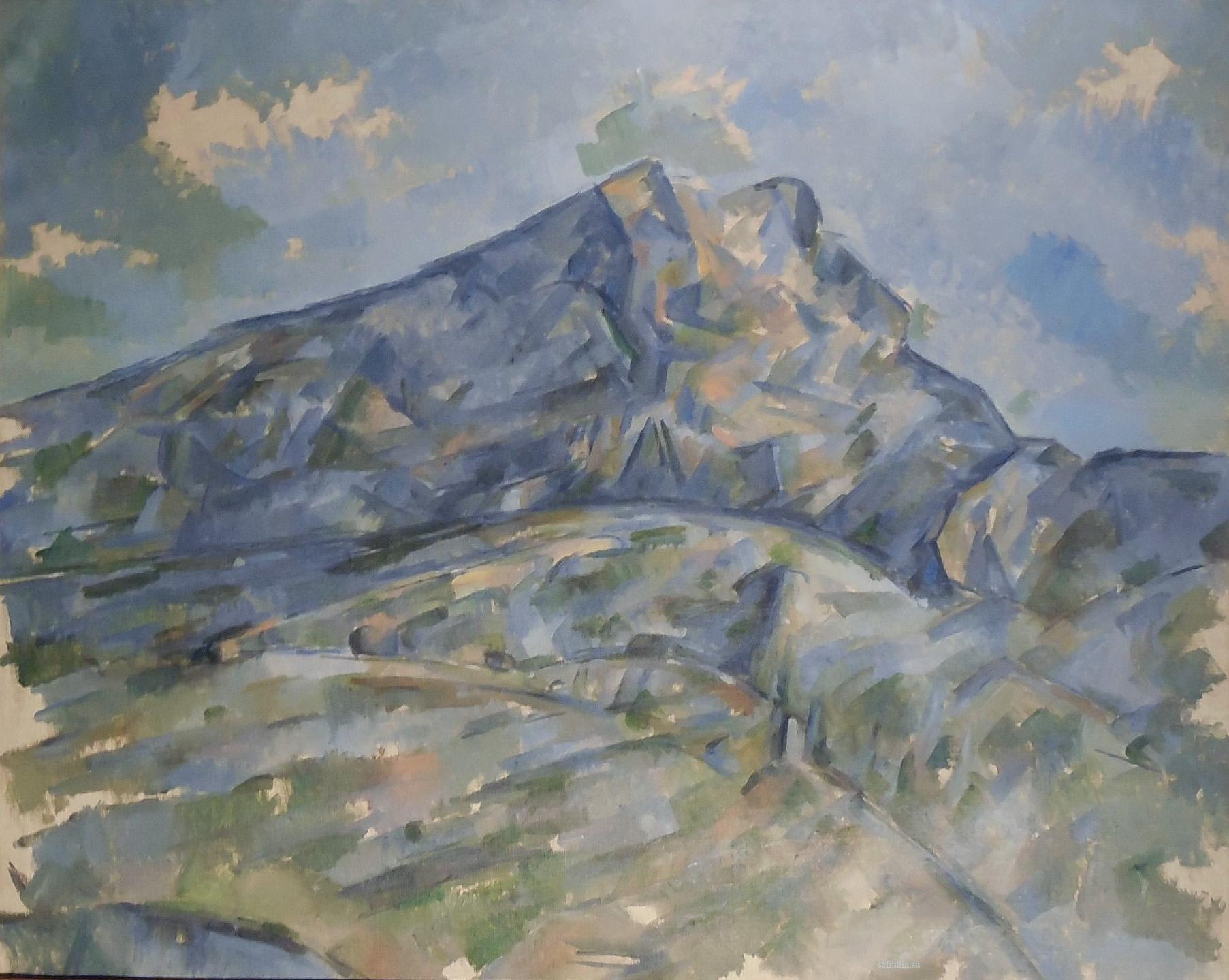 Сезанн картина La Montagne Sainte Victoire пейзажи природы Сафиуллин