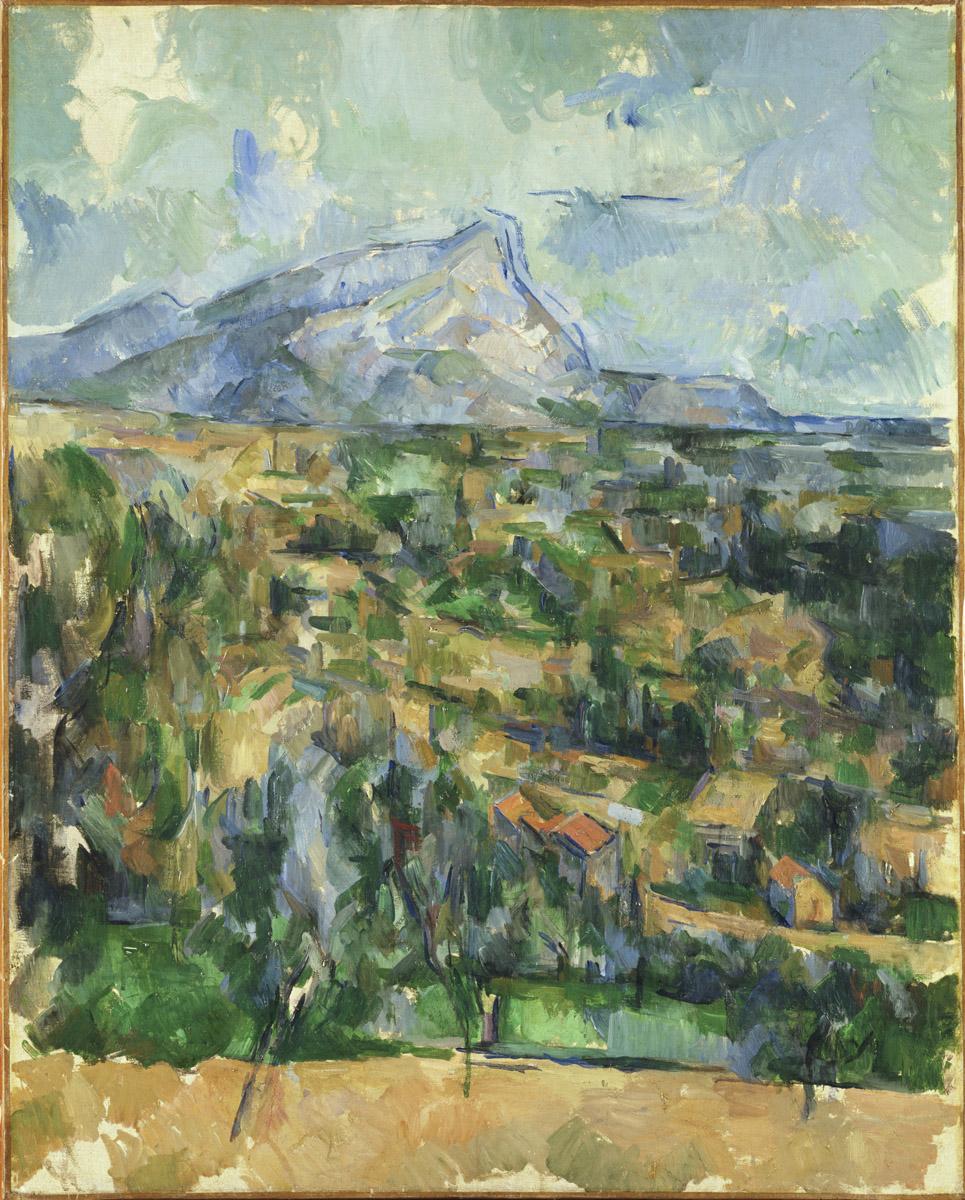 Сезанн картина La Montagne Sainte-Victoire пейзажи природы Сафиуллин