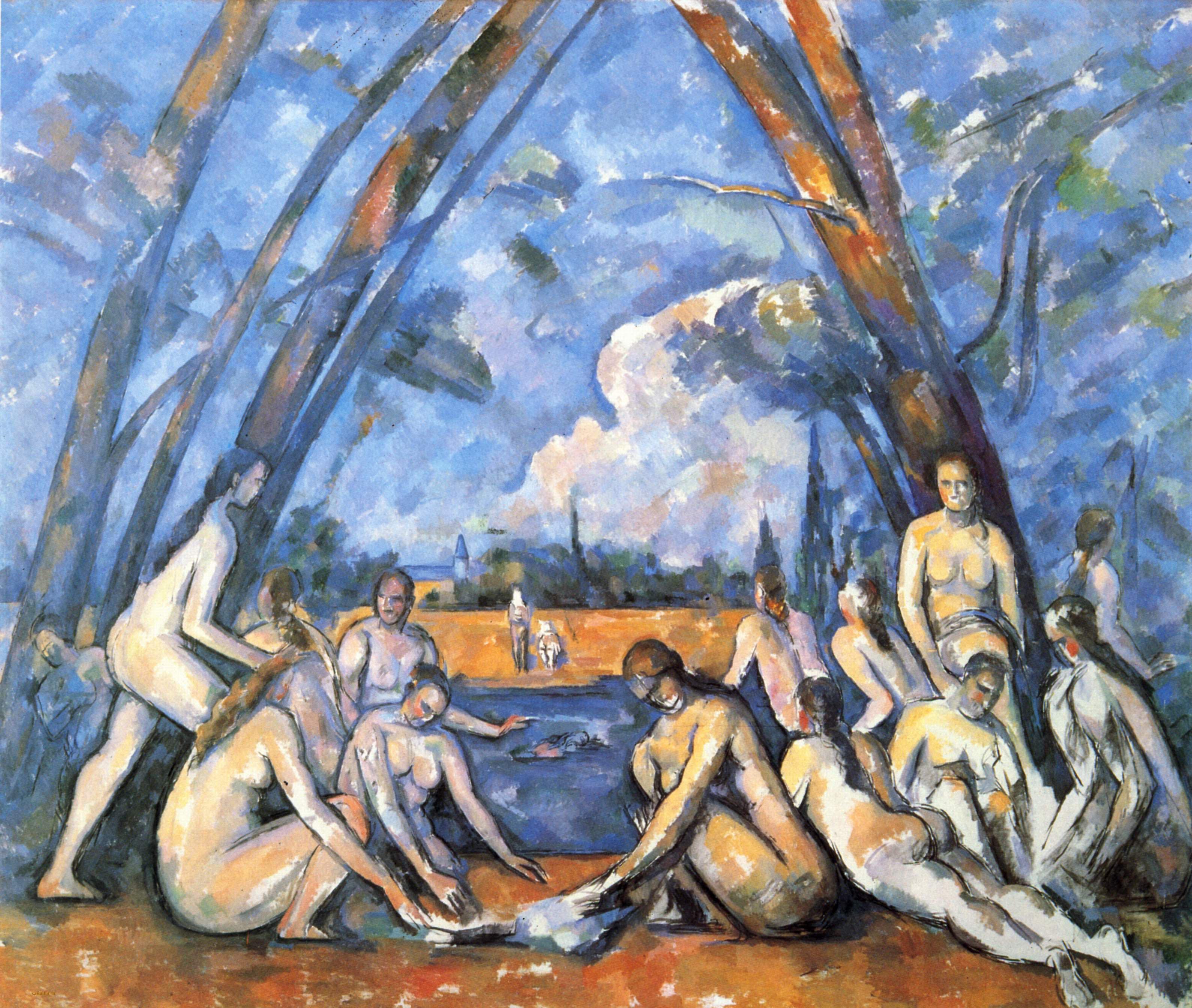 Сезанн картина Купальщицы Сент-Виктуар пейзажи природы Альберт Сафиуллин