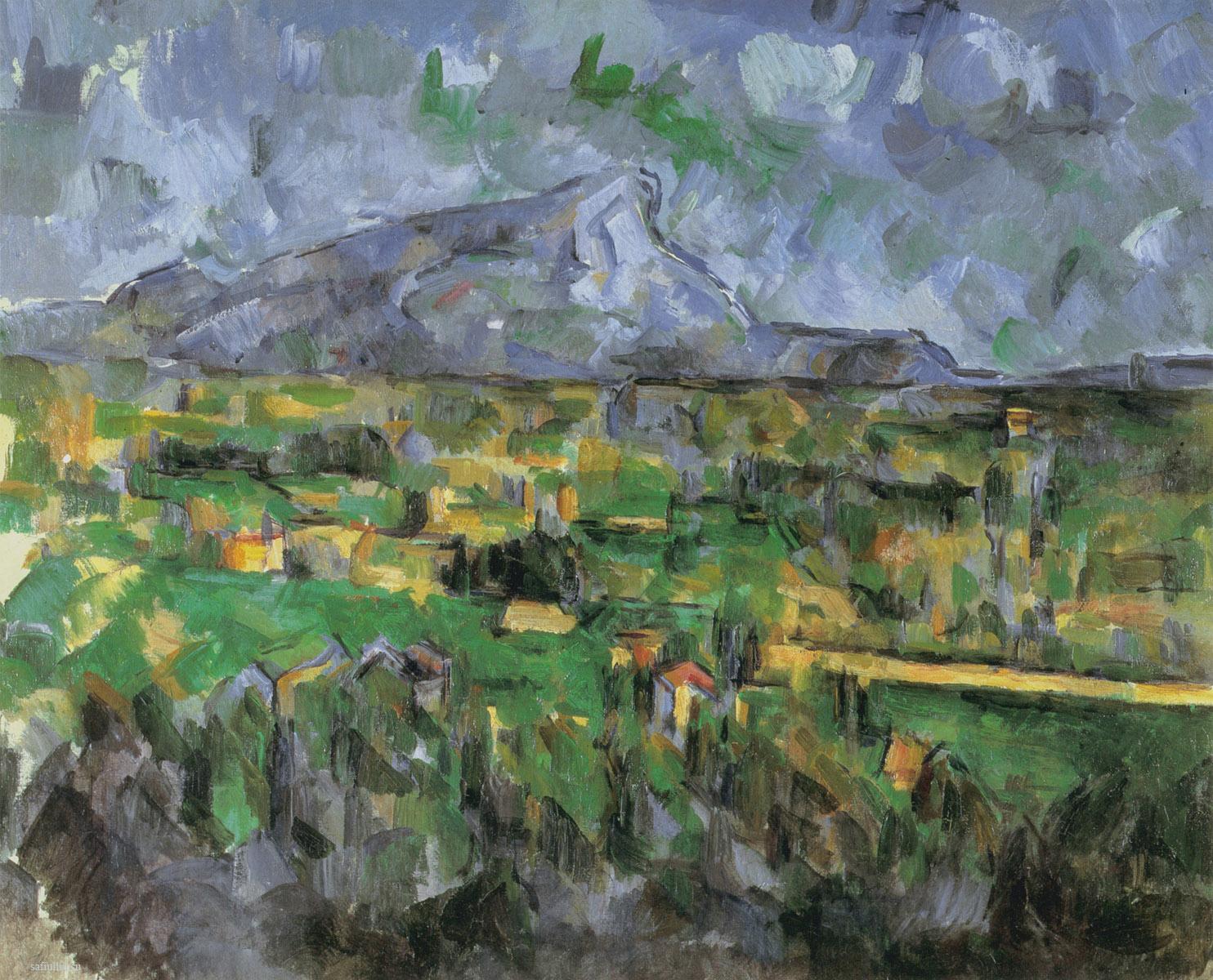 Сезанн картина La Montagne Sainte-Victoire пейзажи природы Сафиуллин Lauves 1902
