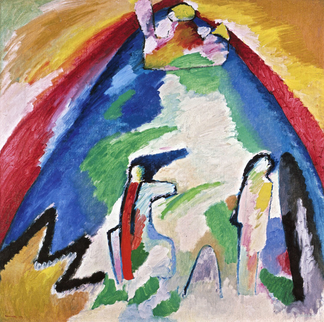 Кандинский картина Гора Сент Виктуар пейзажи природы Сафиуллин
