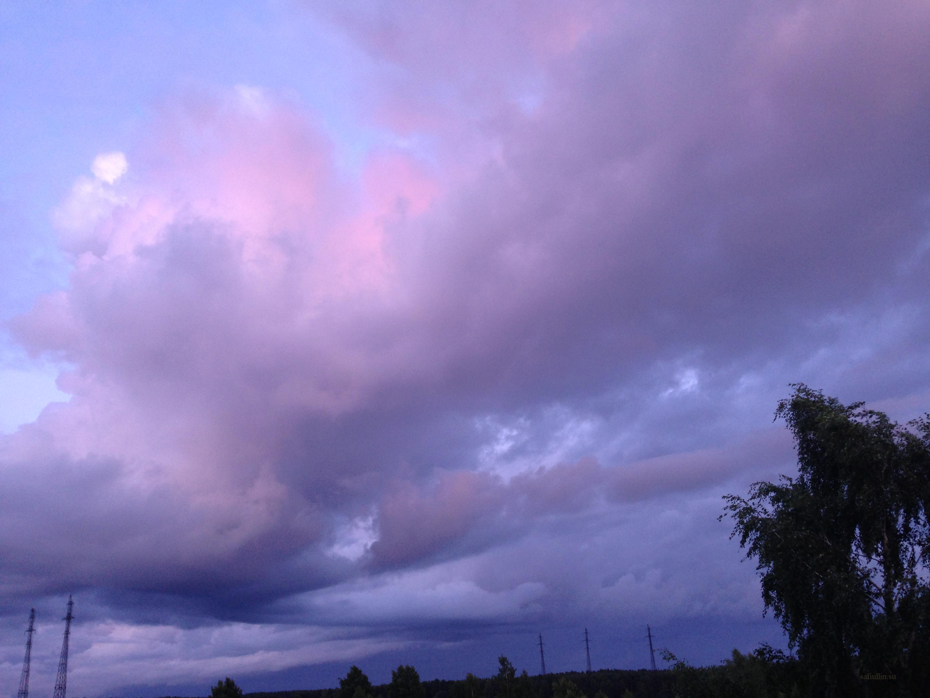 пейзажи природы альберт сафиуллин лето закат облака юрмала