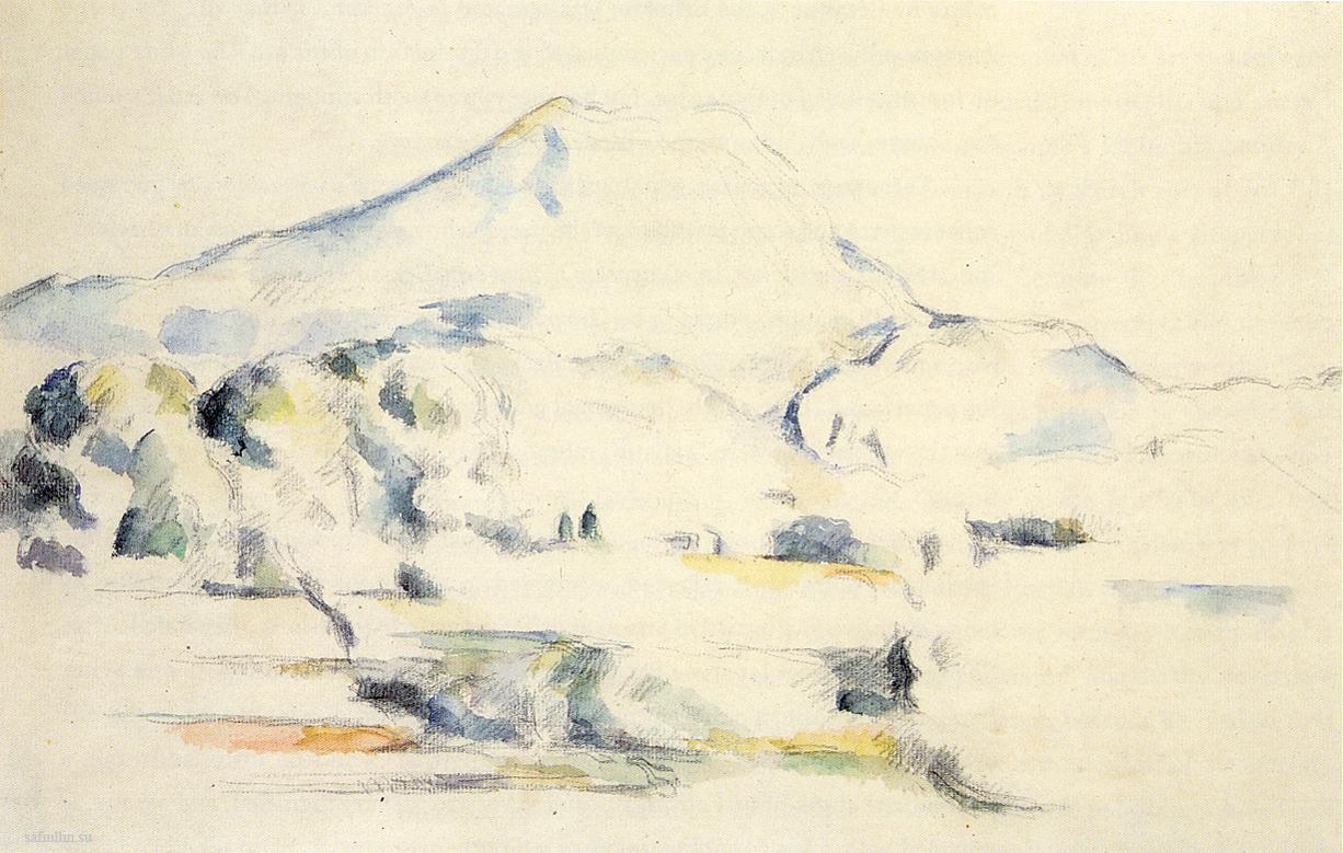 Поль Сезанн рисунок Mont Sainte-Victoire пейзажи природы Сафиуллин Акварель