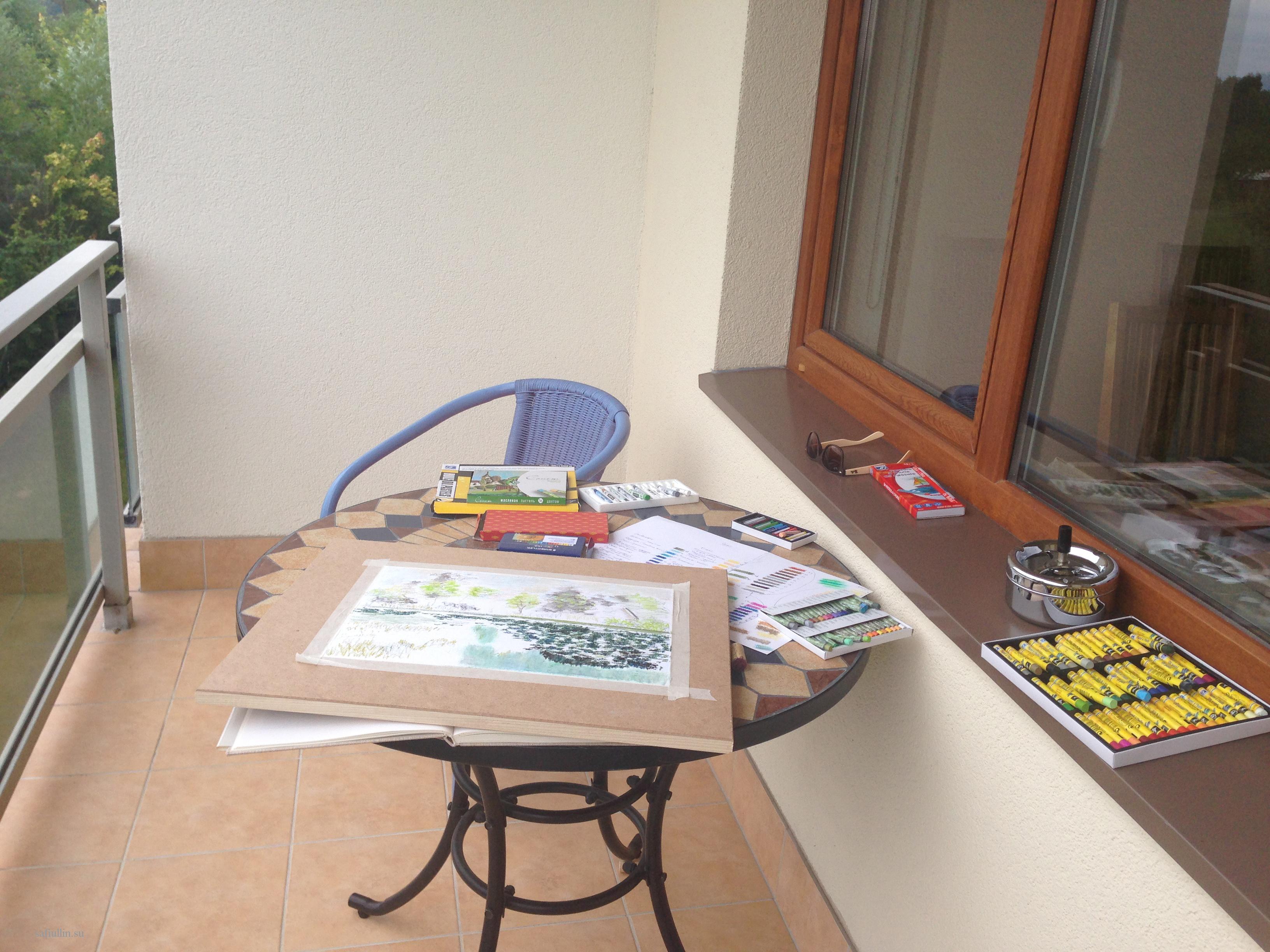 пейзажи природы альберт сафиуллин рисунок пастель лето