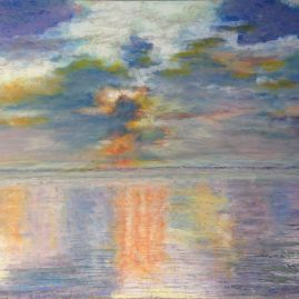 Закатный штиль в Индийском океане пейзажи природы Альберт Сафиуллин