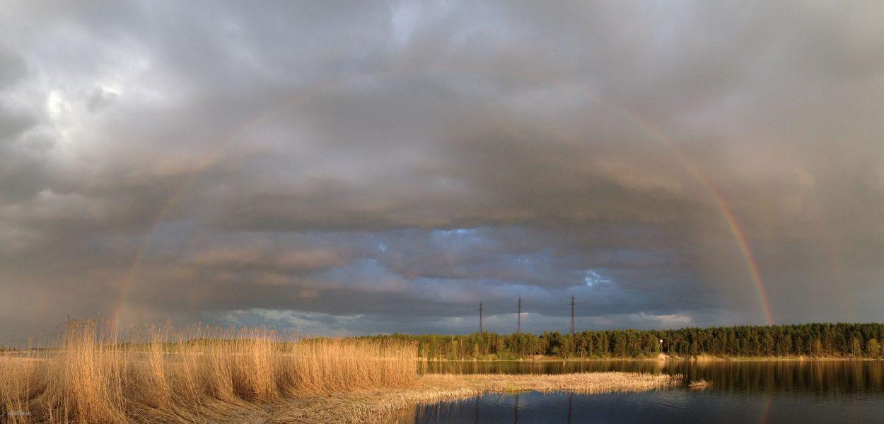 река Лиелупе радуга пейзажи природы Альберт Сафиуллин