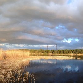 Радуга небо облака река Лиелупе пейзажи природы Альберт Сафиуллин