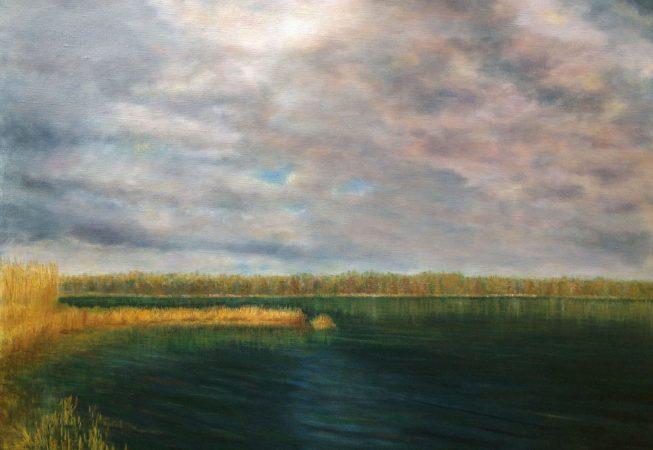 Речной пейзаж природа картина маслом художник Альберт Сафиуллин