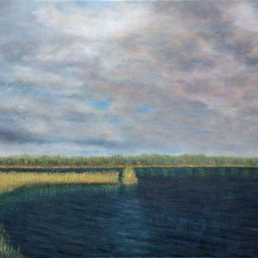 Речной пейзаж с радугой — новая картина в работе. Часть 2