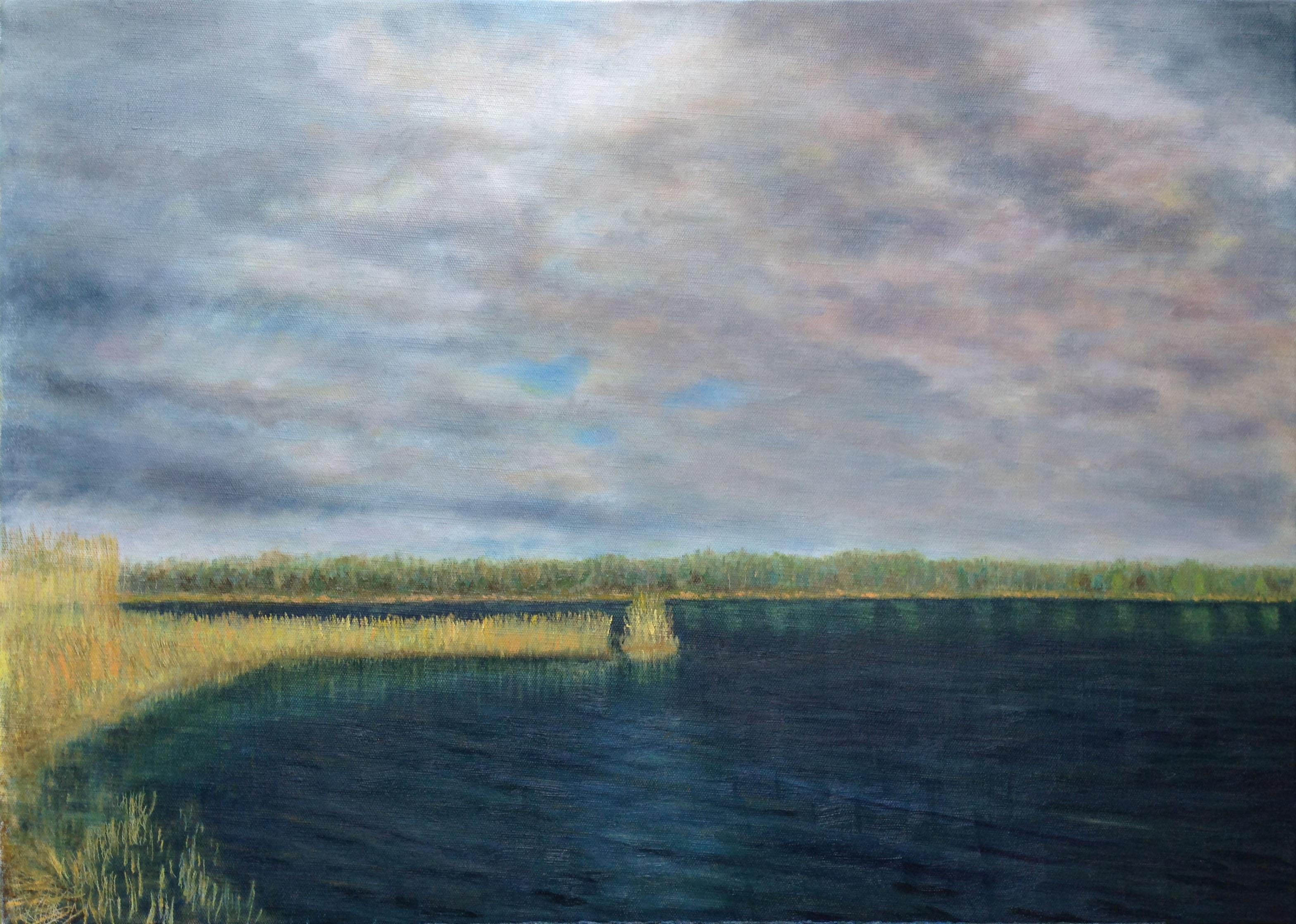 Речной пейзаж картина маслом художник Альберт Сафиуллин
