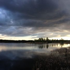 Туча небо облака речной пейзаж Альберт Сафиуллин