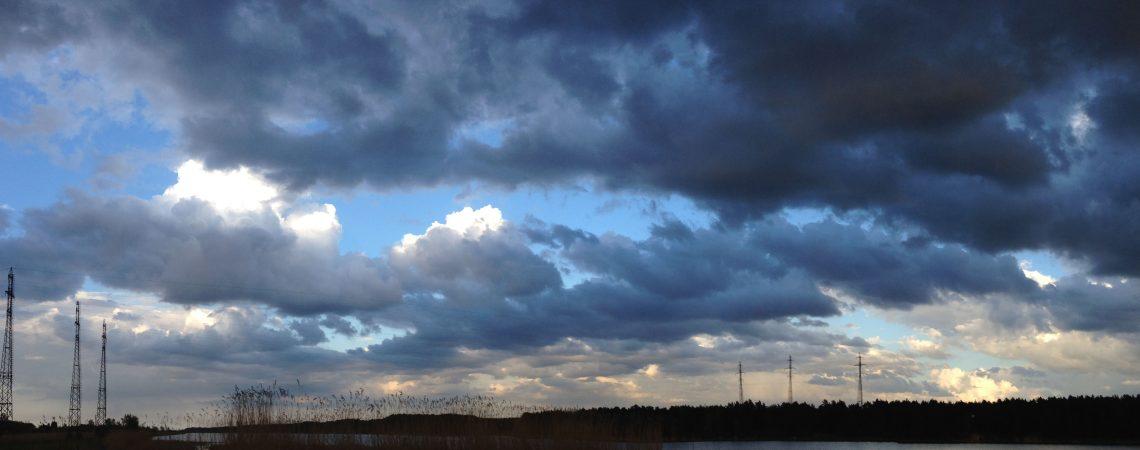 Речной пейзаж весенний закат на Лиелупе пейзажи природы Альберт Сафиуллин