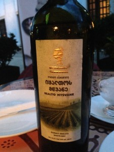 Грузинское вино Мцване Икалто