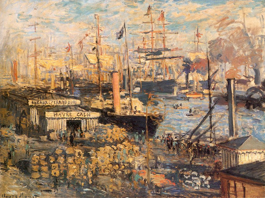 Пейзажи природы картины Клод Моне Гавр гавань Альберт Сафиуллин
