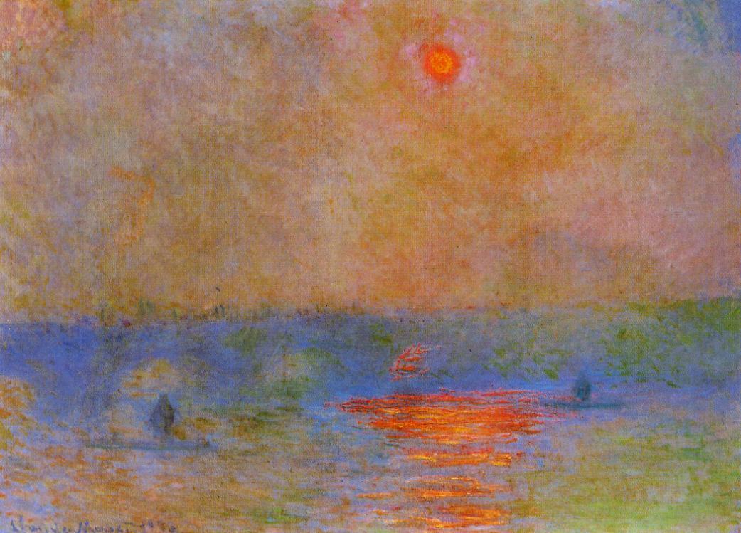 Пейзажи природы картины Клод Моне Claude Monet Ватерлоо Солнце в тумане Альберт Сафиуллин