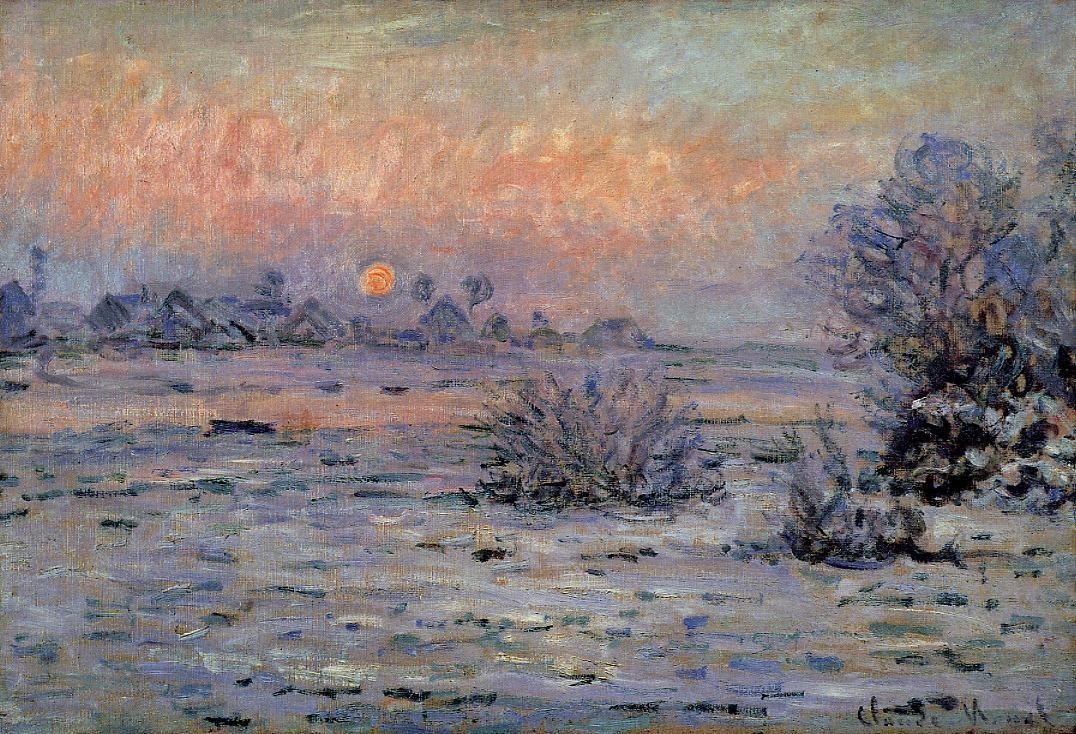 Пейзажи природы картины Клод Моне Claude Monet Зимнее солнце Альберт Сафиуллин