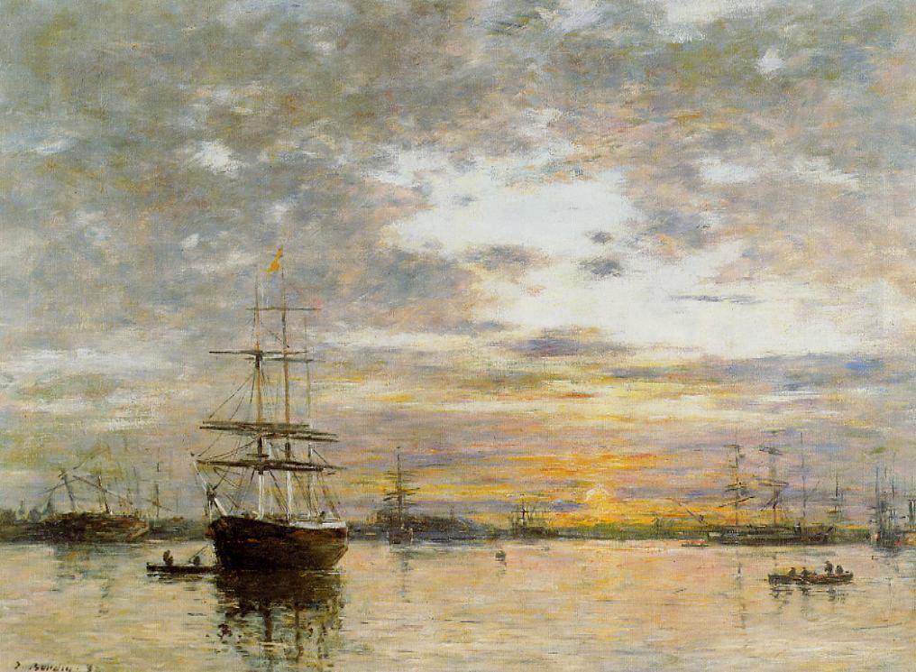 Пейзажи природы картины Эжен Буден Гавр закат солнца Альберт Сафиуллин