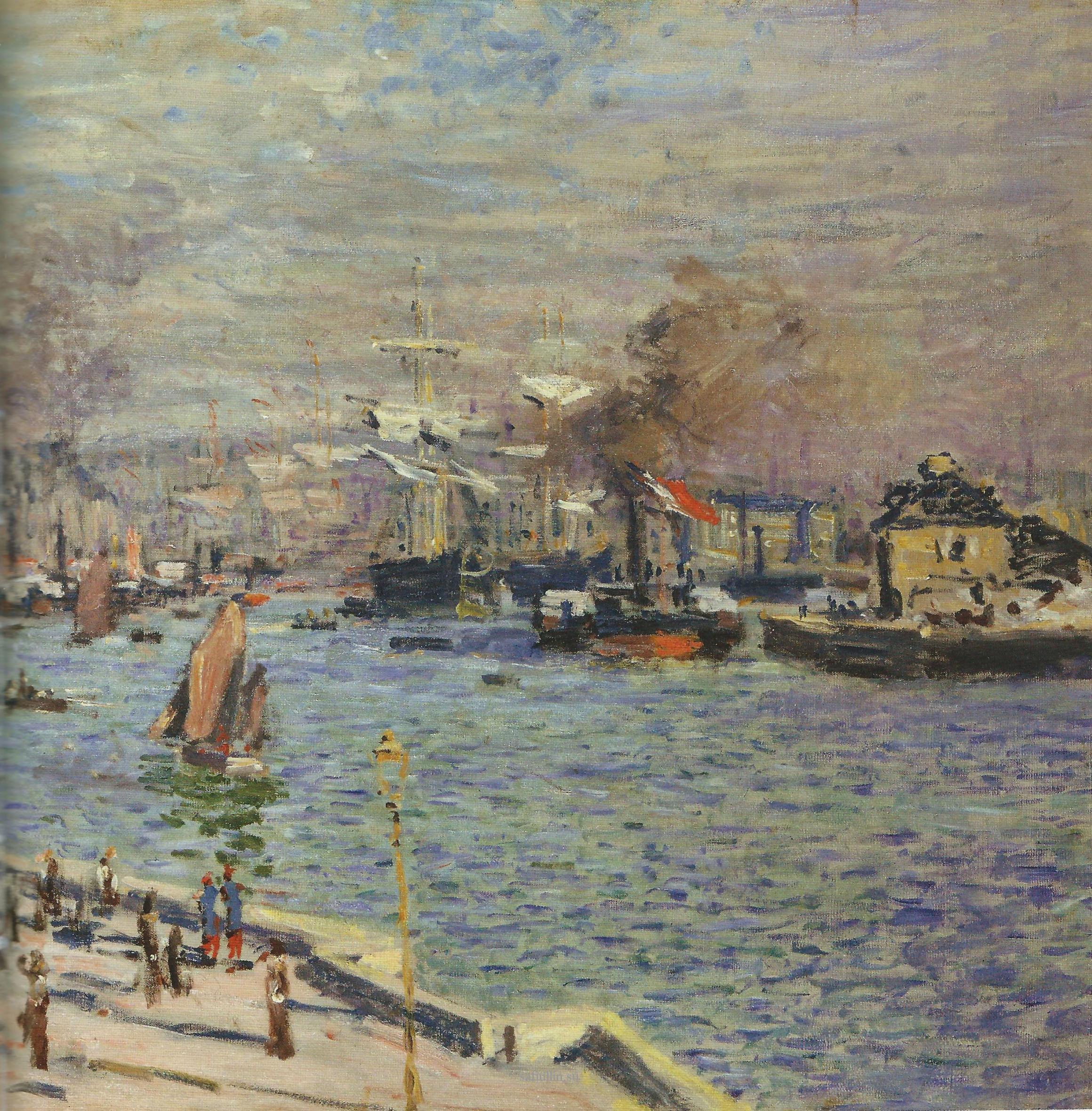 Пейзажи природы картины Клод Моне Port le Havre Альберт Сафиуллин