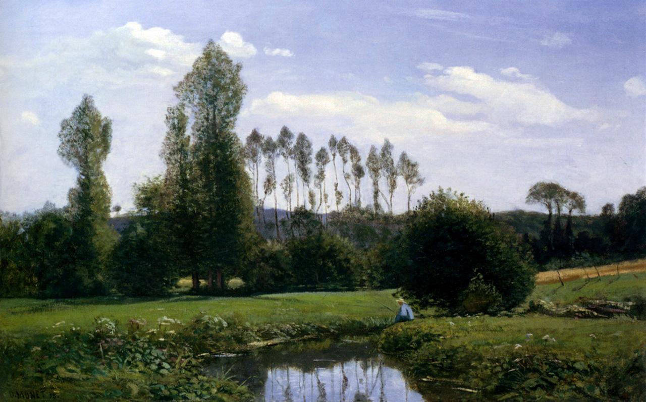 Пейзажи природы картины Клод Моне Вид на Рюэль ле Гавр 1858 Альберт Сафиуллин