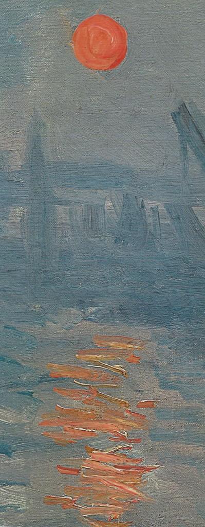 Клод Моне - Впечатление. Восход солнца, 1872 (Paris, Musee Marmottan Monet) фрагмент 3