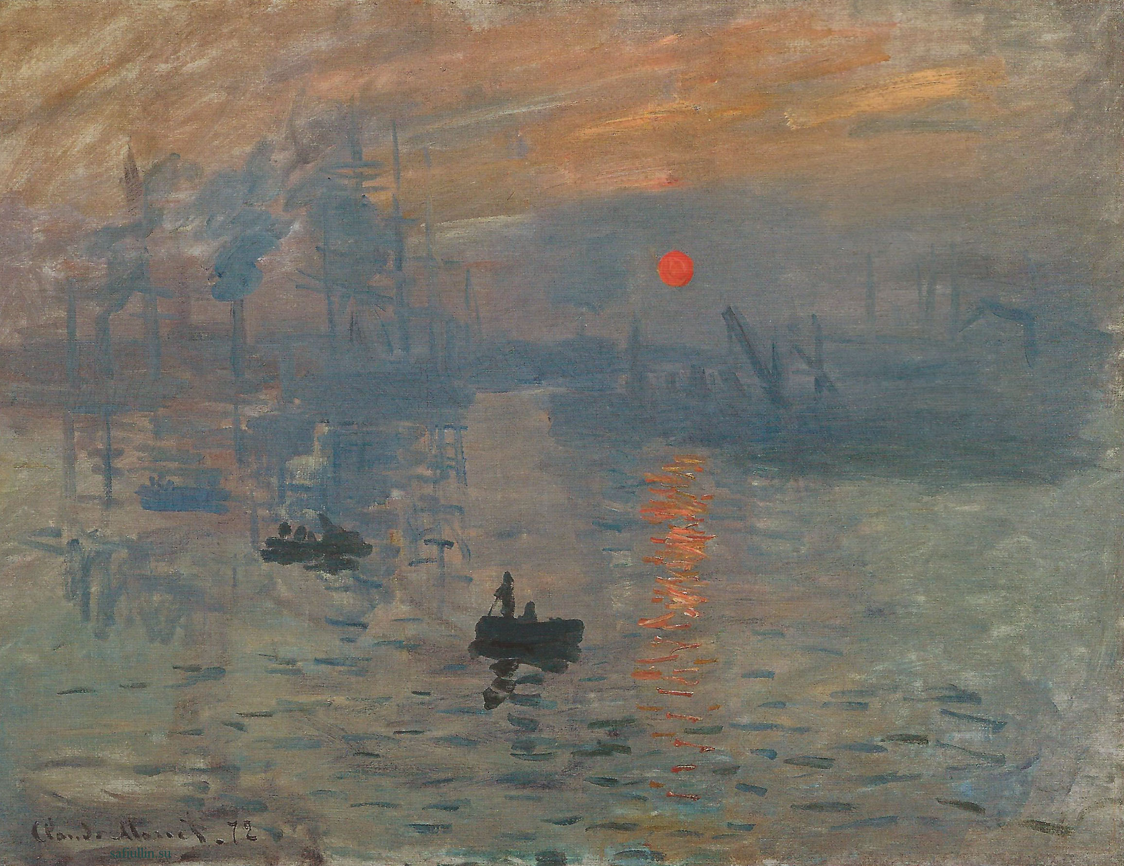 Пейзажи природы картины Клода Моне Впечатление Восход солнца Альберт Сафиуллин